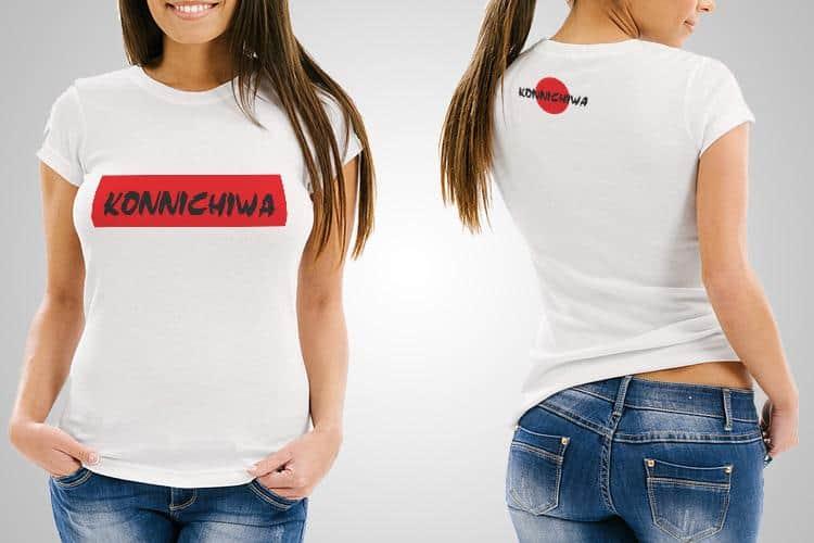 Konnichiwa Printed T-Shirt