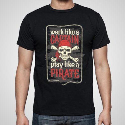 Play Like A Pirate Printed T-Shirt