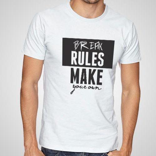 Break Rules Printed T-Shirt