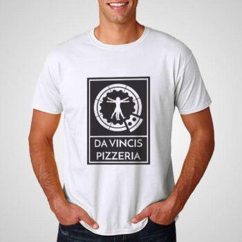 DaVincis Pizzeria Printed T-Shirt