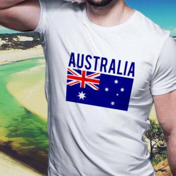 Classic Australian Flag White T-Shirt