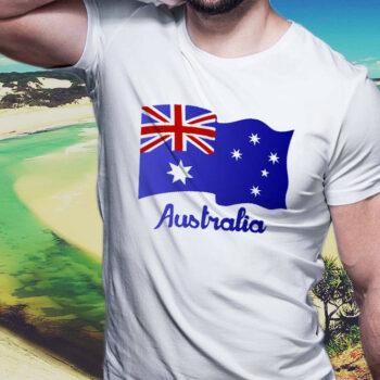 Australian Flag White T-Shirt