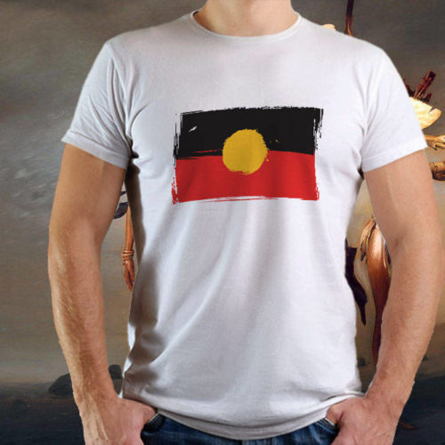 Aboriginal Grunge Flag T-Shirt