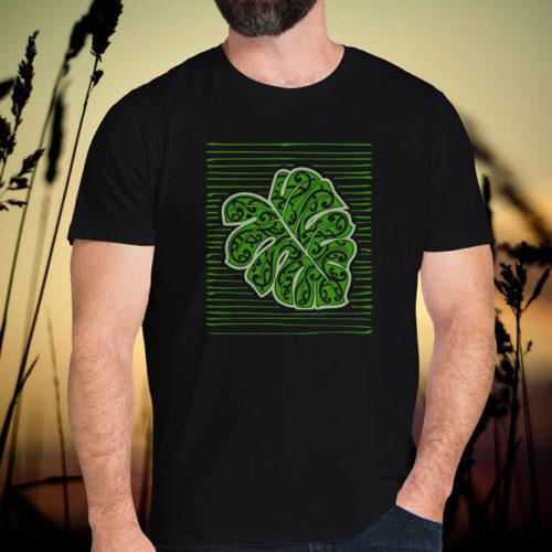 Maori Textured Monster Leaf T-Shirt