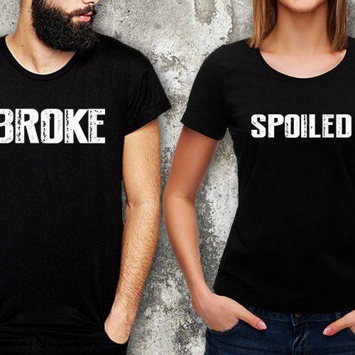 Broke Spoiled Matching T-Shirts