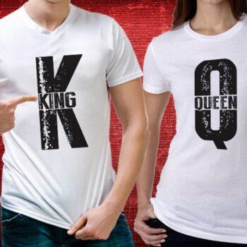King Queen Matching T-Shirts