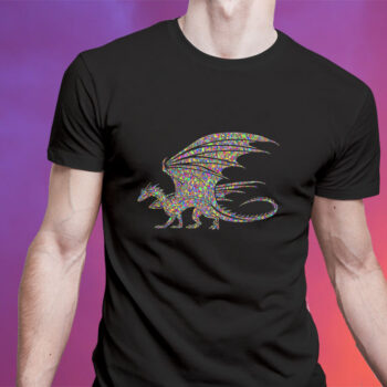 Psychedelic Flying Dragon T-Shirt