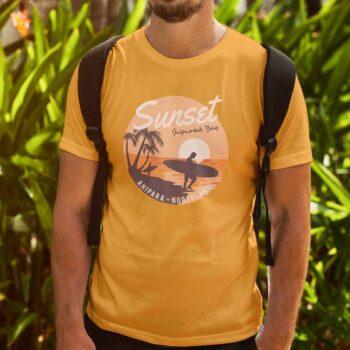 Sunset Shipwreck Bay NZ T-Shirt