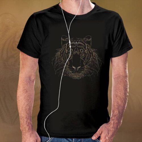 Dotted Tiger Black T-Shirt