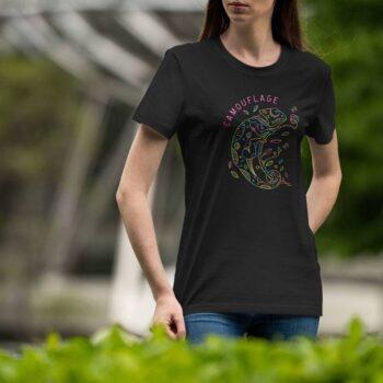 Monoline Chameleon Black T-Shirt